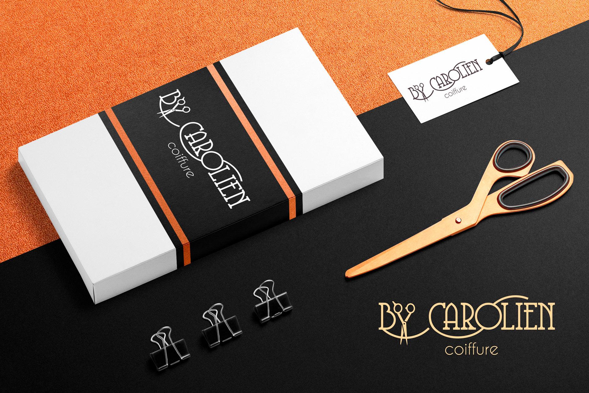 Bij Carolien Coiffure logo en huisstijl