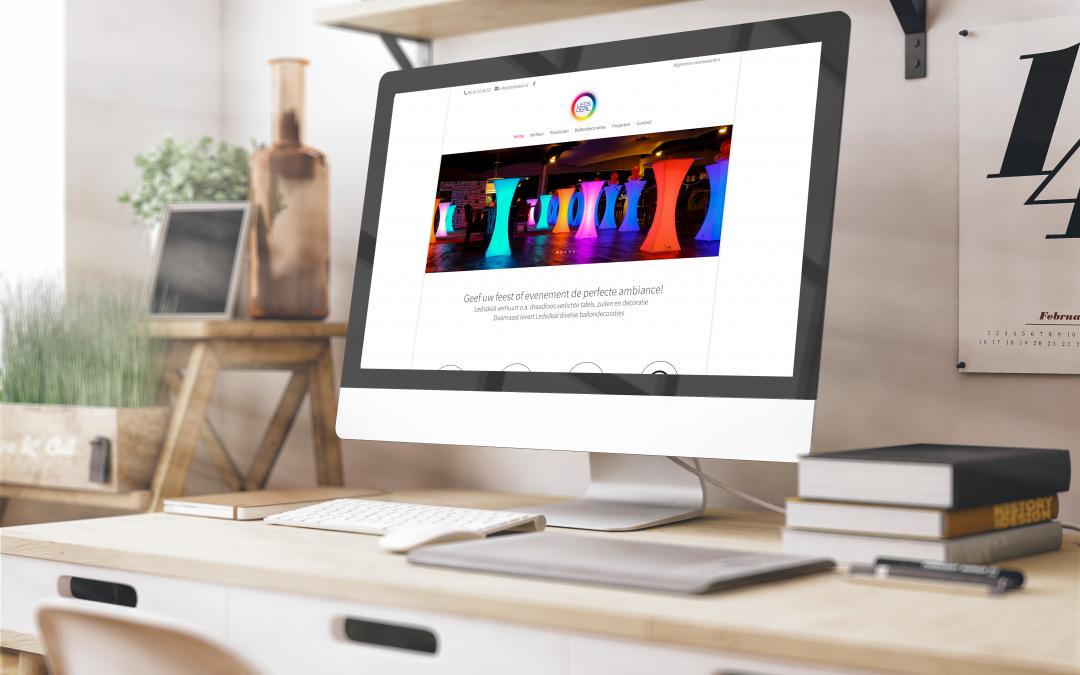 Webdesign voor Ledsdeal website