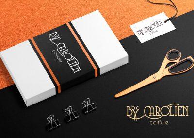 Logo en huisstijl Bij Carolien Coiffure