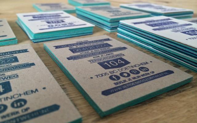 Creative visitekaartjes zelf stempelen
