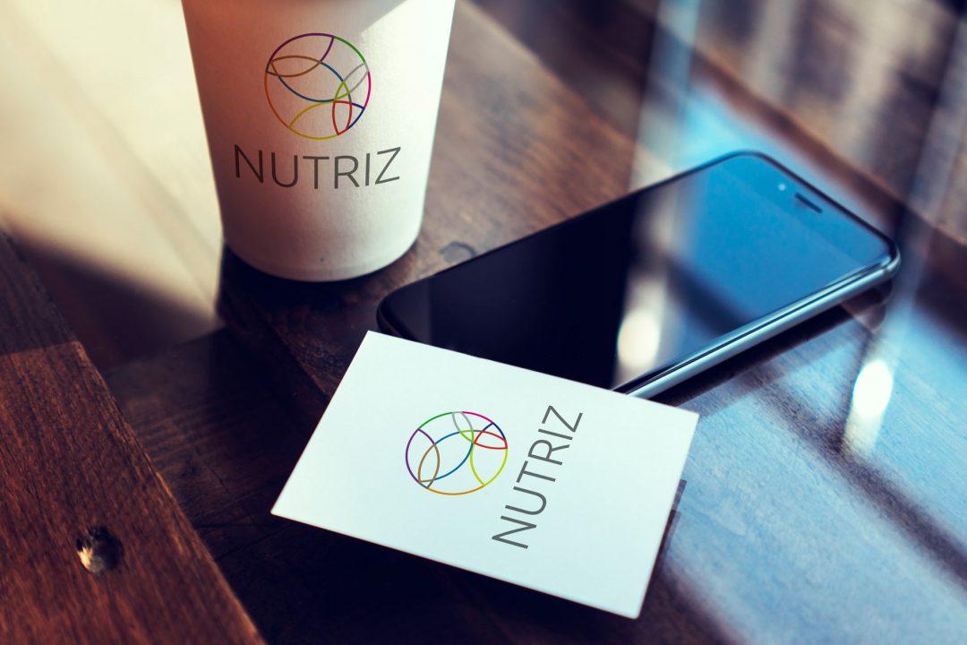 Nutriz visitekaartje logo huisstijl ontwerp Studio Boszkers