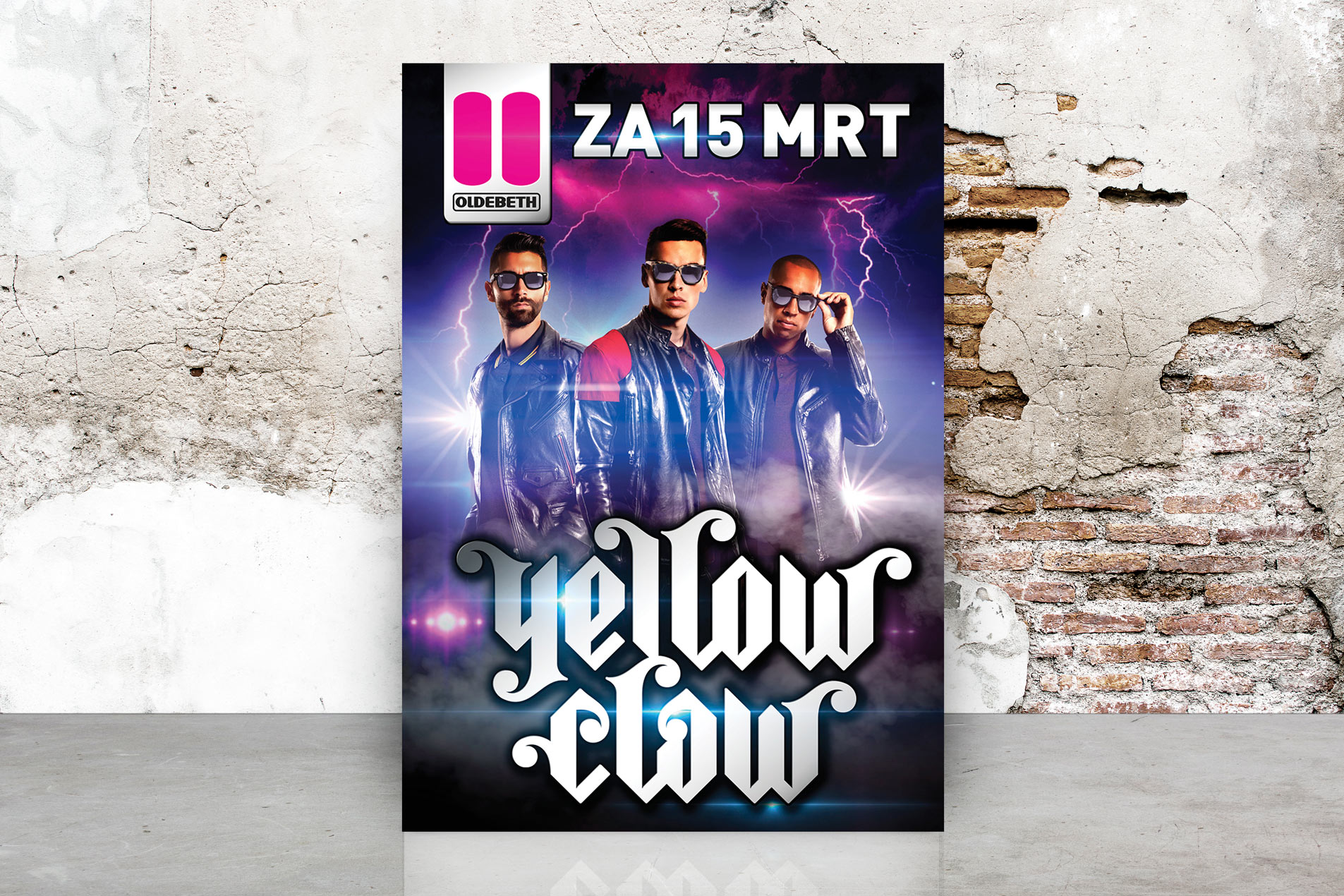 Yellow Claw Print ontwerp