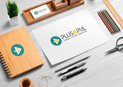 Logo ontwerp Plus & Pijl