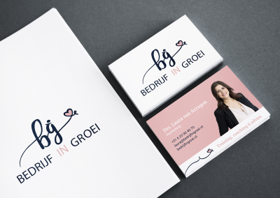 Bedrijf in Groei, logo en huisstijl ontwerp